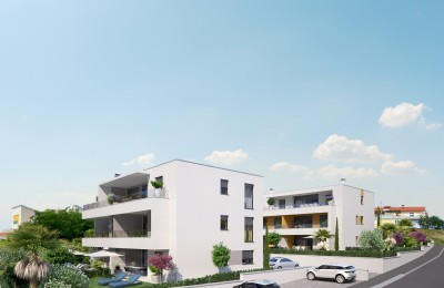 Exclusive apartments, modern new building with sea view, Novigrad Croatia